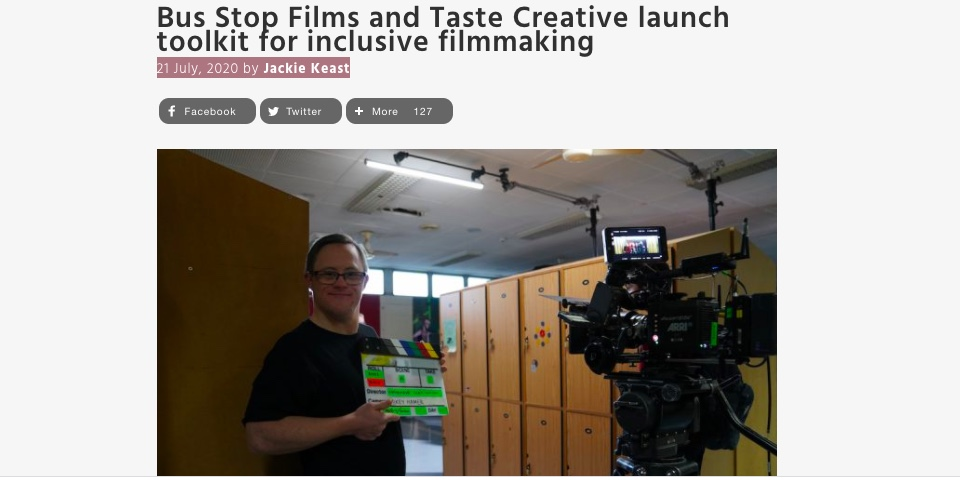 Bus Stop Films and Taste Creative launch toolkit for inclusive filmmaking